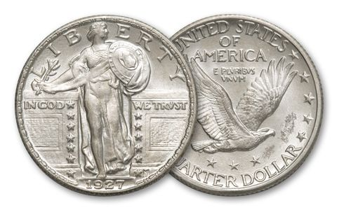 1916-1930 25 Cent Standing Liberty BU