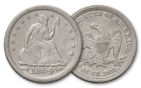 1838-1891 25 Cent Seated Liberty