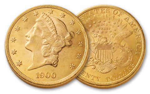 1849-1907 20 Dollar Gold Liberty XF