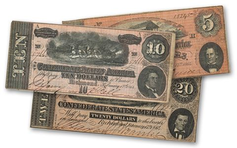 1862-1864 5 Dollar-20 Dollar Collection 3pc | GovMint.com