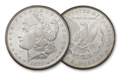 1878-P Morgan Silver Dollar 7 Tail Feathers BU