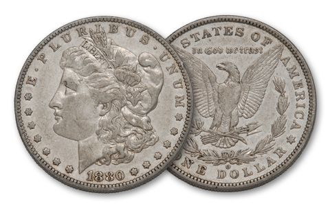 1880-O Morgan Silver Dollar XF