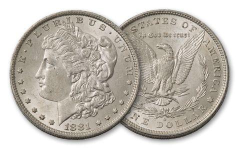 1881-O Morgan Silver Dollar BU