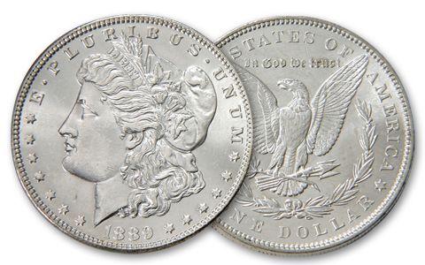 1889-P Morgan Silver Dollar BU