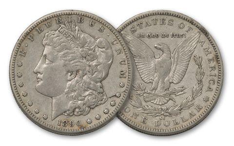1890-CC Morgan Silver Dollar XF