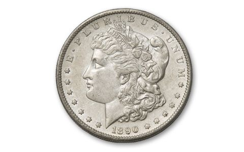 1890-S Morgan Silver Dollar BU End of Frontier