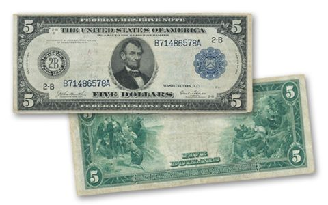 1914 5 Dollar Federal Reserve Note