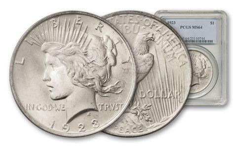 1923-P Peace Dollar PCGS MS64