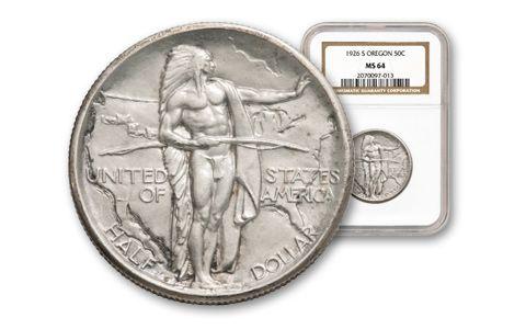 1926-1939 50 Cent Oregon Trail Commemorative NGC PCGS MS64