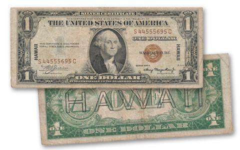1935-A 1 Dollar Silver Certificate Hawaii Fine