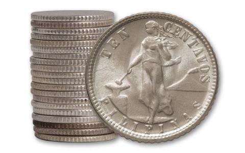 1944-1945 Philippines 10 Centavos Roll BU