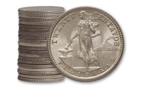 1944-1945 Philippines 20 Centavos Roll BU