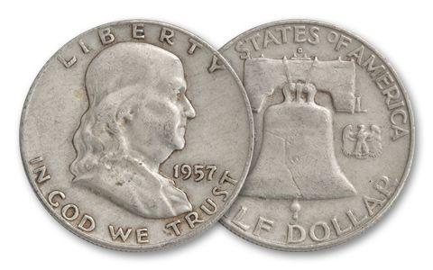 1957 Half Dollar Franklin XF