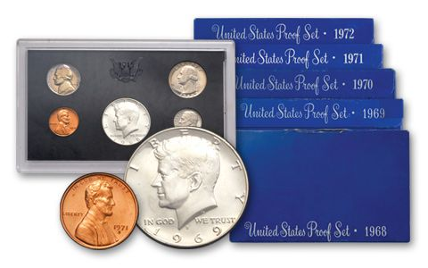 1968-1972 Blue Box Proof Set Collection