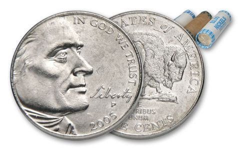 2005-P Bison Nickel Roll Uncirculated