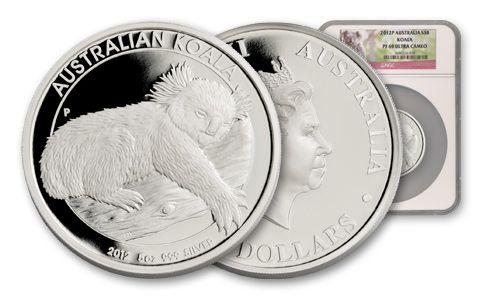 2012 Australia 5-oz Silver Koala Proof NGC PR69