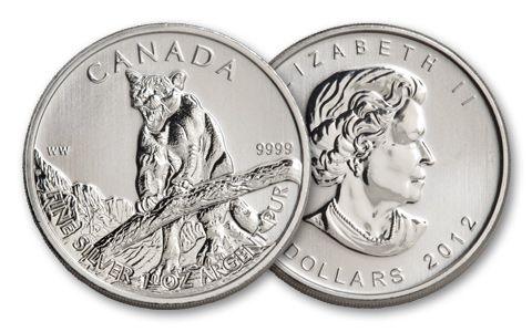 2012 Canada 1-oz Silver Cougar Brilliant Uncirculated