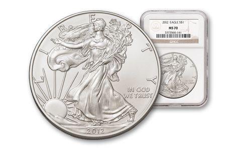 2012 1 Dollar 1-oz Silver Eagle NGC MS70