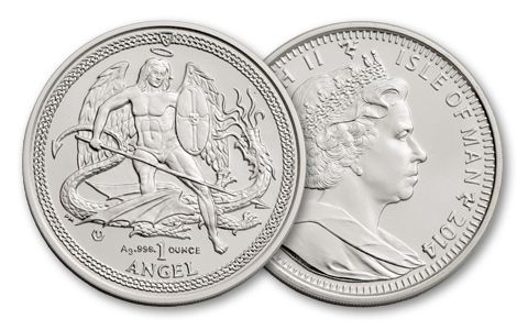 2014 1-oz Silver Angel Brilliant Uncirculated