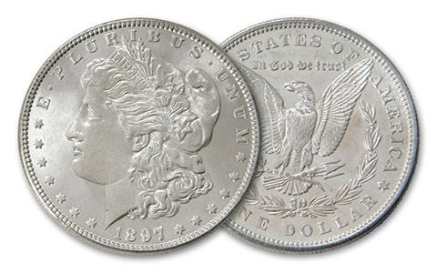 1897-P Morgan Silver Dollar BU