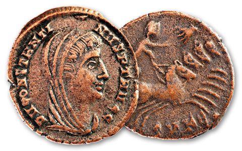 337-340 AD Constantine Roman Hand of God with Folder