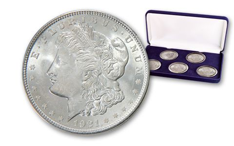 Morgan Silver Dollar Treasury Hoard Collection 5 Pieces