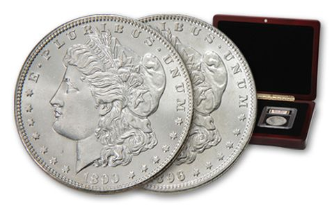 Morgan Silver Dollar Wild West Collection Box Set BU