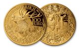 2013 Austria 100 Euro Gold Red Deer Stag Proof