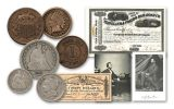 Vanishing Coins Of The Civil War Collection 6 Pieces