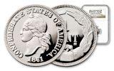 1861 Platinum Confederate Cent NGC GEM PR