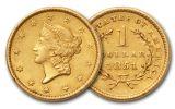 1849-1854 1 Dollar Gold Liberty Type I XF