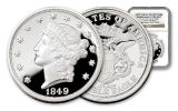 SI 1849 1OZ SILVER DOUBLE EAGLE NGC-GEM PROOF