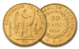 1878-1898 20 Francs Gold Angel BU