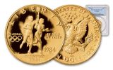 1984-W 10 Dollar Olympic Gold NGC PF69 Garrett Signed - 100 Greatest Coins