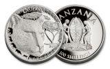 2017 Tanzania 25 Gram Silver Clad Big 5 Leopard Coin