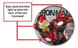 2017 Fiji 50 Cent Silver Plated Clad Iron Man Light Up Specimen - Marvel Series