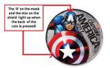 2017 Fiji 50 Cent Silver Plated Clad Marvel Light Up Specimen 3-Piece Set - Marvel Series