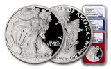 2018-W 1 Dollar 1-oz Silver Eagle NGC PF70UCAM Early Releases - Red White Blue 3pc Set