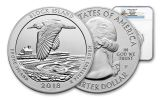 2018-P Block Island National Wildlife Refuge 5-oz Silver Quarter America the Beautiful NGC MS69 DPL Early Releases