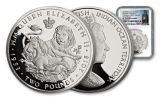 BIOT 2018 Sapphire Coronation 1-Ounce Silver Lion and Unicorn NGC PF70UC First Releases