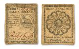 1776 Continental Fugio Benjamin Franklin 4-Note Fine Currency Set