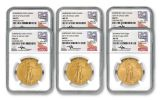 2006–2018 $50 1-oz Burnished Gold American Eagle 11-Piece Collection Set NGC MS70 - Mercanti Signed Labels