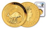 2019 Australia $100 1-oz Gold Kangaroo NGC MS70