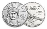 2019 $100 1-oz Platinum American Eagle BU