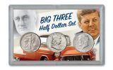 Big Three Silver Half Dollar 3-Piece BU Set