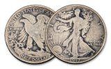 1917-P 50 Cents Silver Walking Liberty VG