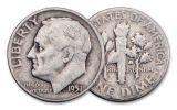 1950-1953 Korean War 5-Coin Set VF w/Bonus MPC Note
