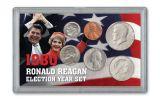 1980 Ronald Reagan Election Year 6-pc Set BU