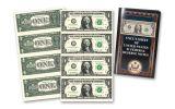 Uncut Sheet of $1 Bills Crisp Uncirculated w/Folder