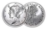 2-oz Silver American Coin Treasures Mercury Dime